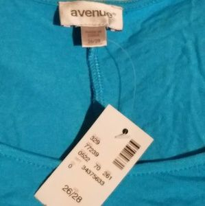 NWT Open Shoulder Light Blue Short Sleeve Shirt